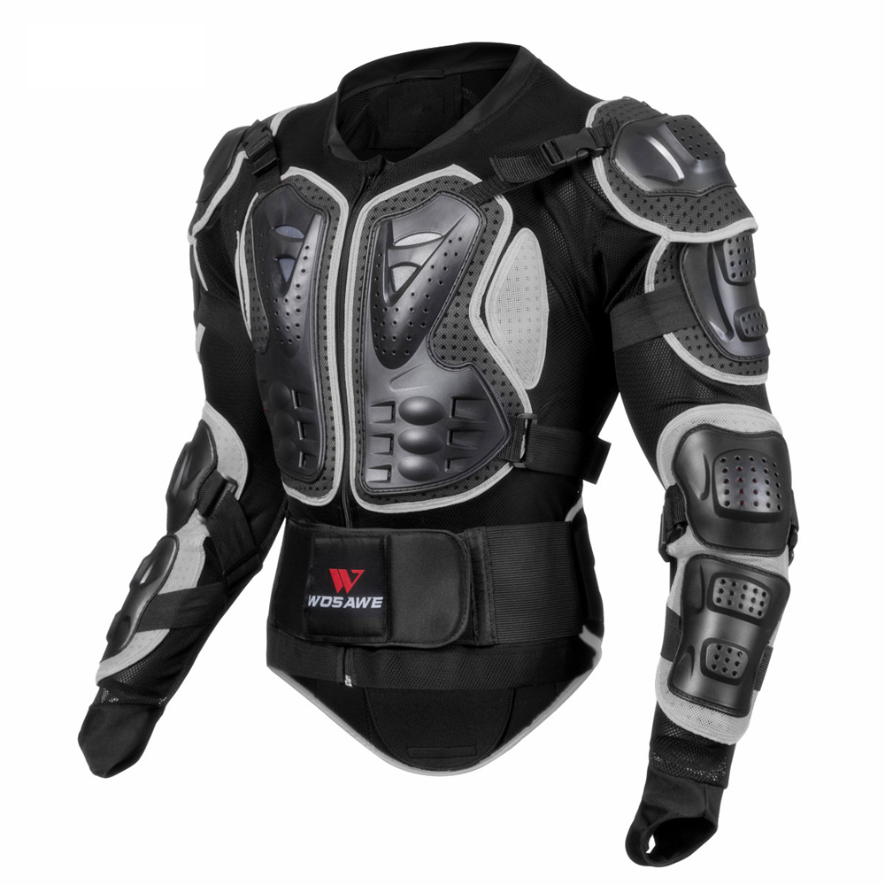 WOSAWE Breathable Motorcycle Jacket Racing Protector Motocross Body Protection Elastic Cycling Jacket Protective Gear