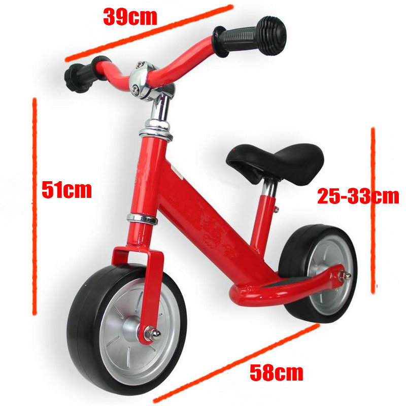 High Quality Balance Bike, High Carbon Steel Frame Baby Balance Bike, 7 tommer Solid Wheel No Pedal Baby Balance Bike
