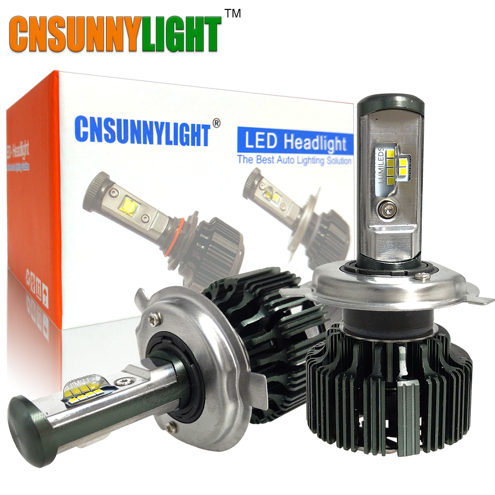 CNSUNNYLIGHT H7 H4 H11 LED H13 9005/HB3 9006/HB4 H1 Car Headlight Kit 6000K Bulbs CSP Auto Front H3 880/881 H8 Fog Lamps W/ Fan
