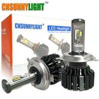 CNSUNNYLIGHT H7 H4 H11 LED H13 9005/HB3 9006/HB4 H1 zestaw reflektorów samochodowych 6000K żarówki CSP Auto przednie H3 880/881 H8 światła przeciwmgielne w/wentylator