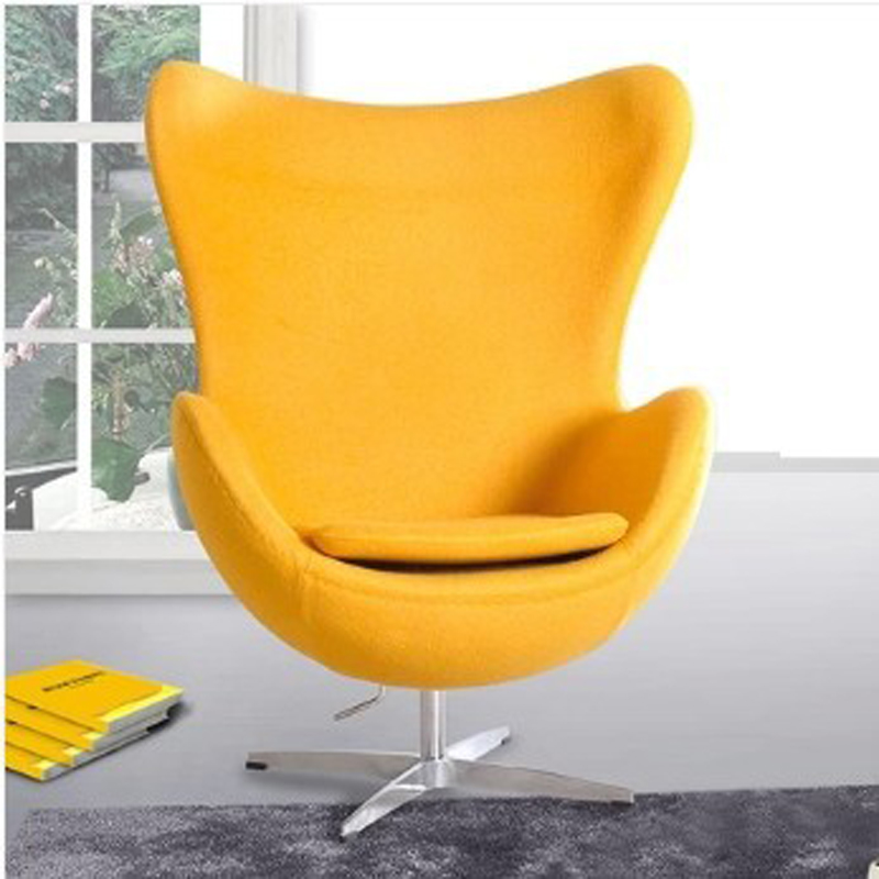 Egg Style Chair Top Cashmere Living Room Furniture Chairs Modern Bright Color Ball Single Seater Sofa
