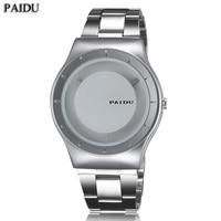 Turntable dial paidu stainless steel band wrist fashion analog wrist watch men women gift black silver.jpg 200x200