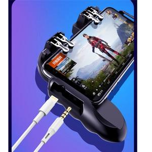 Image 5 - PUBG mobilny kontroler Gamepad z chłodnica wentylator dla iOS smartfonów z systemem Android 6 palców pracy Joystick chłodnicy baterii
