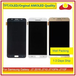 Image 1 - 50 ชิ้น/ล็อตสำหรับ Samsung Galaxy J7 2016 J710 J710FN J710F J710 จอ lcd หน้าจอแผง Digitizer Pantalla ที่สมบูรณ์แบบ