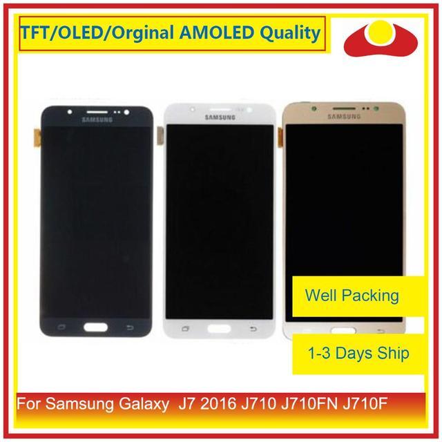 50 ชิ้น/ล็อตสำหรับ Samsung Galaxy J7 2016 J710 J710FN J710F J710 จอ lcd หน้าจอแผง Digitizer Pantalla ที่สมบูรณ์แบบ