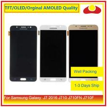 50 pçs/lote Para Samsung Galaxy J7 2016 J710 J710FN J710F J710 Display LCD Com Painel Touch Screen Digitador Pantalla Completo