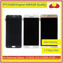 50 unids/lote para Samsung Galaxy J7 2016 J710 J710FN J710F J710 Pantalla LCD con Pantalla táctil digitalizador Panel Pantalla Completa