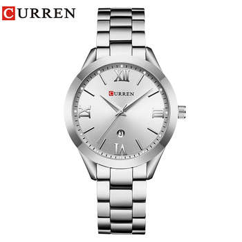CURREN Simple  Fashion Stainless Steel Analog Quartz Wrist Watch Calendar Female Dress Watch Women Clock Relogio Feminino 8