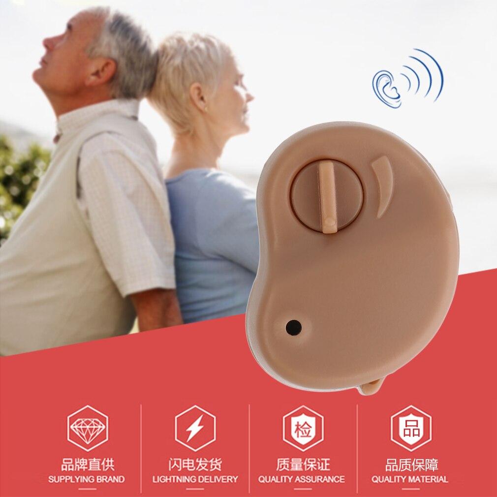2018 Portable Mini audífono amplificador de sonido en el volumen del tono de oído ajustable audífonos Cuidado del oído para los ancianos sordos