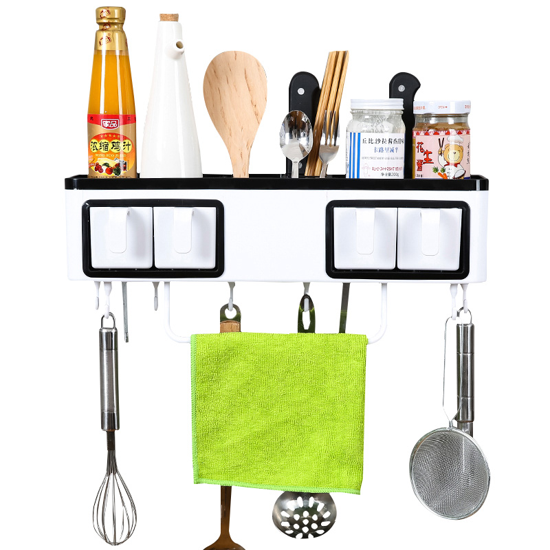 Perforation free kitchen shelf wall type storage rack storage rack hanging shelf kitchen utensils seasoning knife LU5163