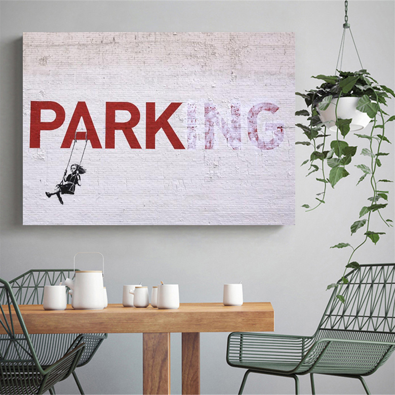 Banksy Canvas Kunstdrucke Kunst Parking Dineshsanjelcomnp
