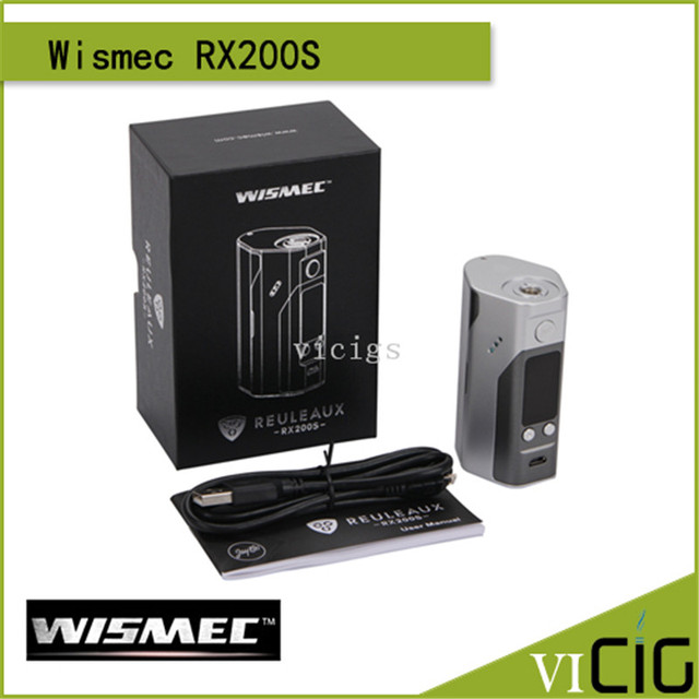 100% Original Wismec Reuleaux RX200S TC 200W OLED Screen Box Mod Powered by Three 18650 Cells with Upgradeable Firmware