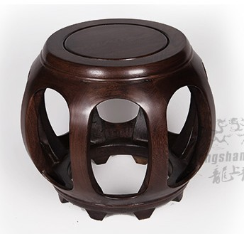 2015 Chinese Style Antique Drum Stool Chicken Wing Wood