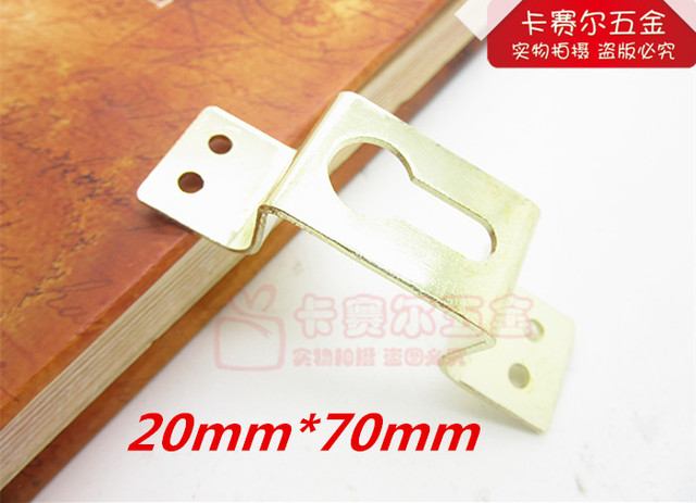 20pcs wall picture hangers photo hanging metal golden picture hook ...
