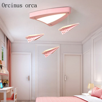 Modern minimalist aircraft chandelier children's room boys girls bedroom cartoon creative eye protection aircraft ceiling lamp