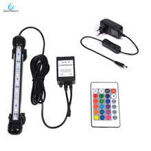 18cm RGB Remote Aquarium Light Fish Tank Waterproof 5050 SMD LED Bar Light Aquatic Lamp Submersible EU US SAA UK plug 46cm 18pcs led aquarium fish tank light tube bar light underwater submersible air bubble safe lighting us eu uk saa plug