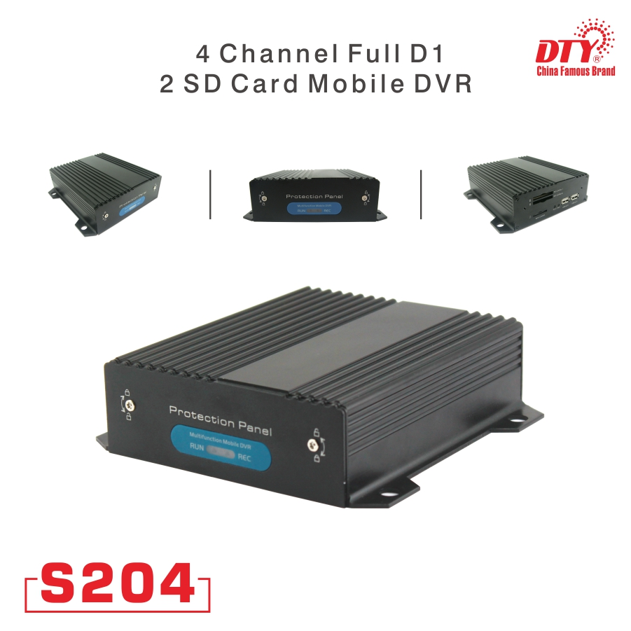 DTY full d1 4 channel network dvr 3g live video system  S204 series dvr +3g+wifi+gps|dvr 3g|gps gps|gps wifi - title=