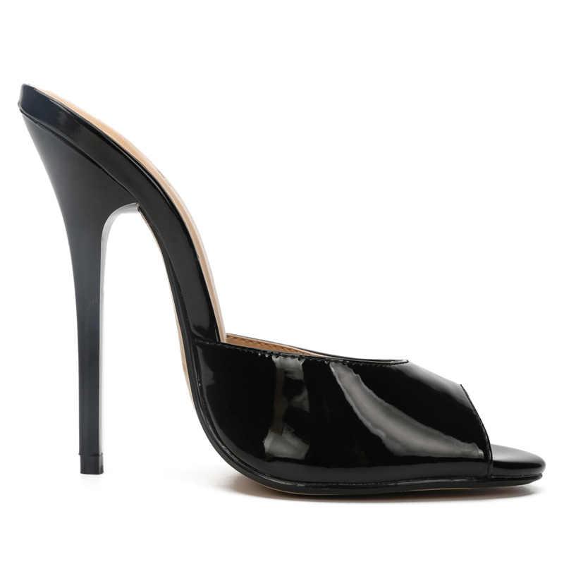 プラスサイズ 50 女性スリッパ人気ファッション夏女性ミュールカジュアル女性の靴はパンプスピープトウハイヒールハイヒールスリッパ
