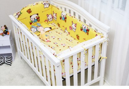 Promotion! 6PCS Bedding Set for Crib!!!Baby Cot Bed,Wholesale and Retail Children Cot Sets,120*60cm,(4bumper+sheet+pillowcase) pink french toile fitted crib sheet for baby and toddler bedding sets by sweet jojo designs toile print