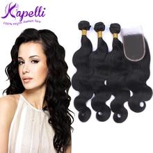 Malaysian virgin hair with closure mocha hair stema hair Malaysian body wave bundles *3 & 4*4 lace frontal closure with bundles