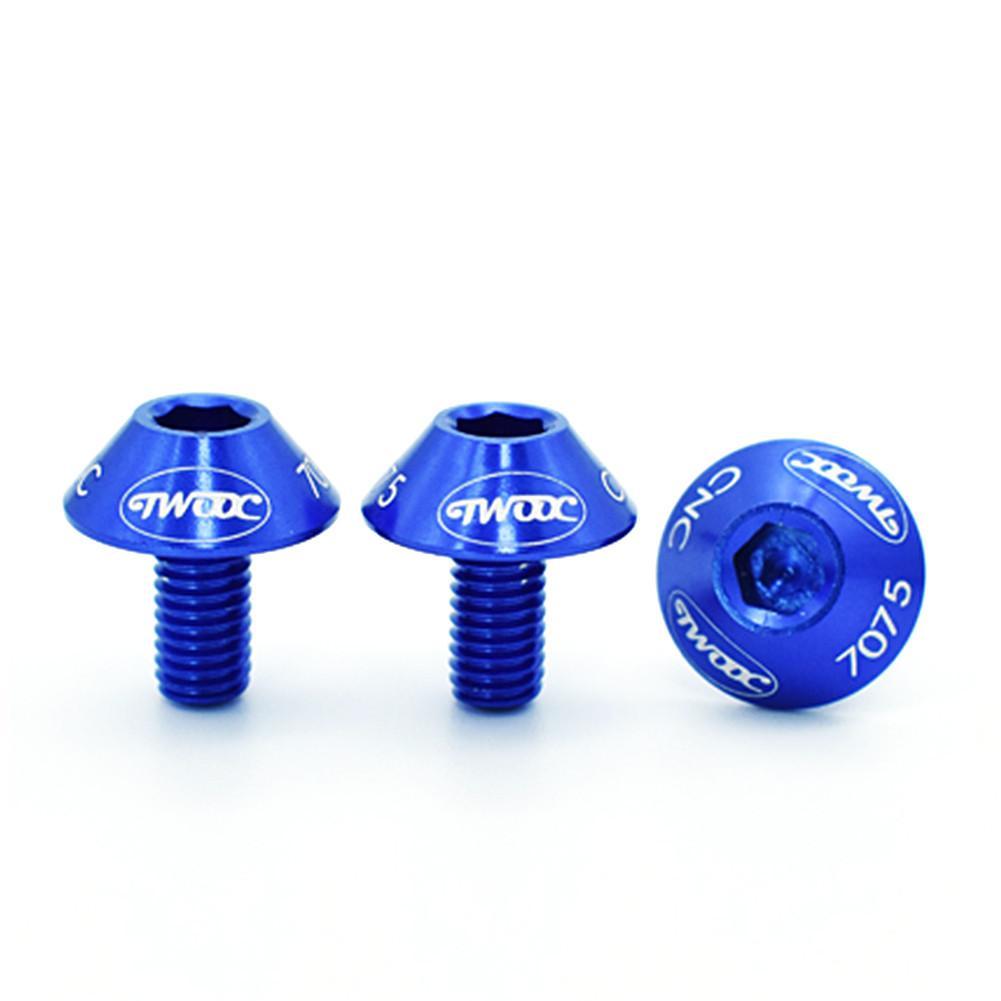 2 шт. велосипедный держатель для бутылки с водой крепежные болты из алюминиевого сплава с шестигранной головкой резьбовой винт для велосипедной бутылки - Цвет: Blue