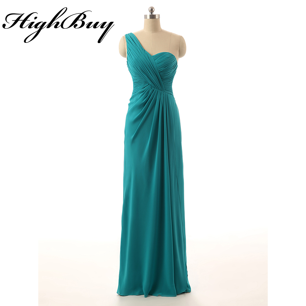 Compare prices on customized bridesmaid dresses online shopping highbuy 2017 fashion a line dress formal party gowns one shoulder customized long bridesmaid dress ombrellifo Choice Image