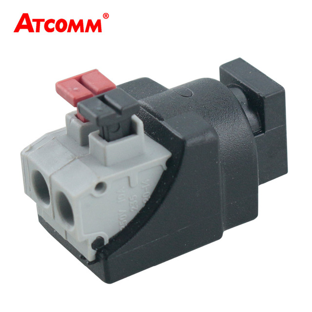 DC Male Female Jack Connector Plug Adapter Tool-free installation Apply to 3528 5050 Single Color LED Strip Light CCTV Camera