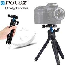 """Puluz карман мини настольный штатив Камера/видео штатив с 360 """"шаровой головкой держатель макро монопод для Canon nikon Sony DSLR"""