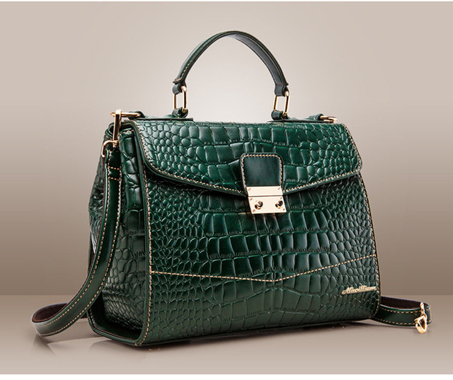 Lastest Fashion Handbags Made Of Genuine Crocodile Skin Bags Crossbody Postman Shoulder Bolsas For Sweet