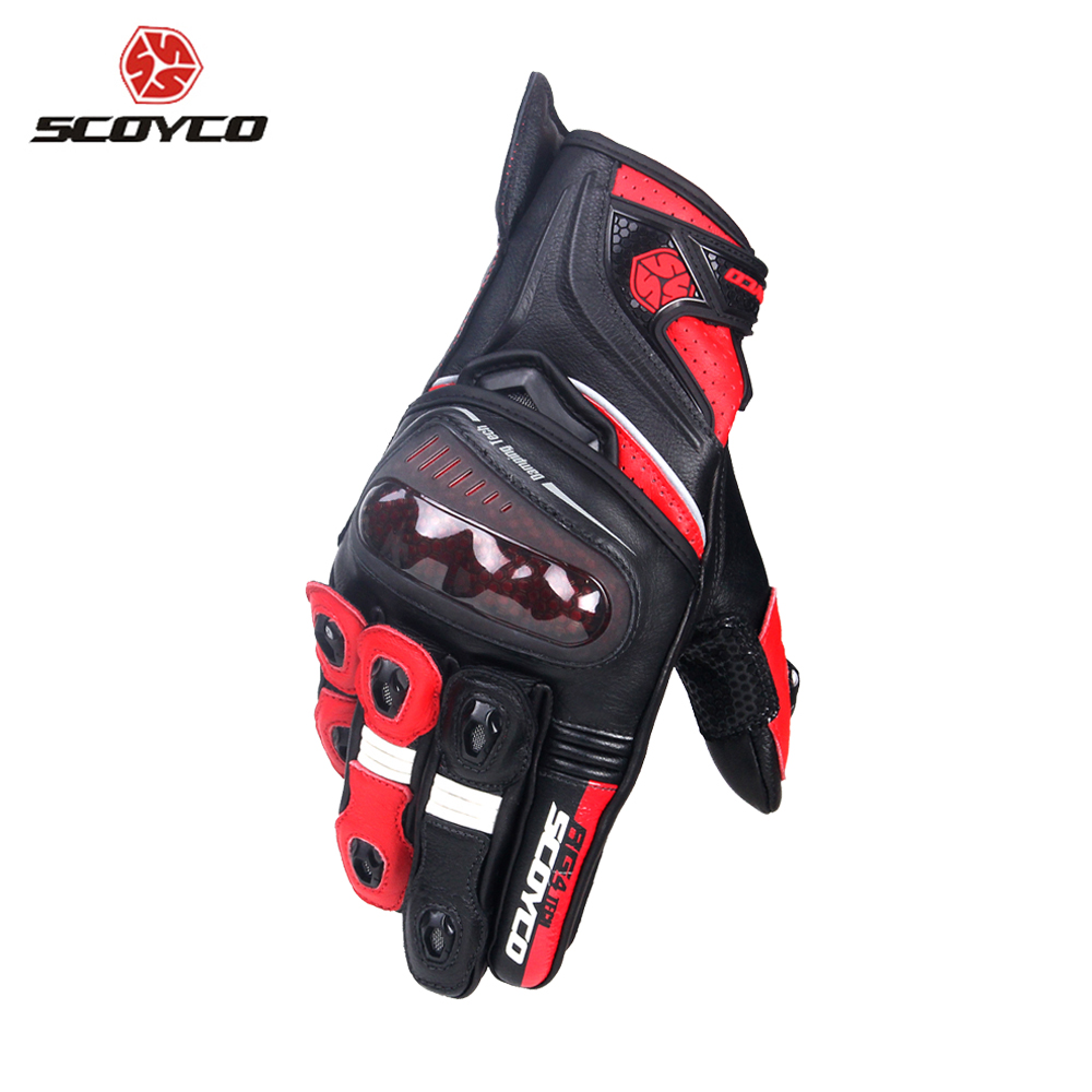 SCOYCO Motorcycle Gloves Microfiber Leather Riding Gloves Motocross Full Finger Racing Guantes Moto Gloves Protective Gear star brand moto gp pro racing motorcycle durable cycling gloves gp tech leath protective gear genuine leather motocross gloves