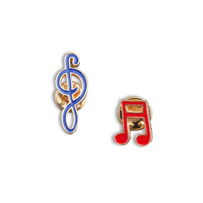 New Kreatif Desain Kartun Not Bros Merah Biru Enamel Pin Fashion Logam Badge Pins Bros Pakaian Dekorasi Perhiasan