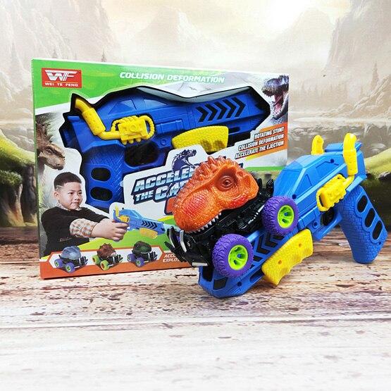 6 шт 6 стилей высокое качество детский день подарок игрушка динозавр модель мини игрушка автомобиль назад автомобиля подарок грузовик хобби - Цвет: dinosaur toy gun