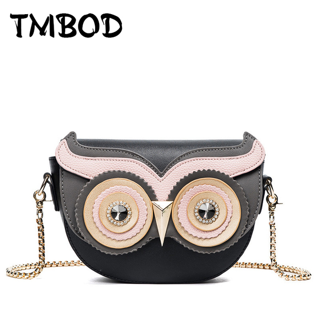 Hot 2018 Classic Design Cute Owl Eyes Small Crossbody Bag Women Pu Leather Handbags Lady