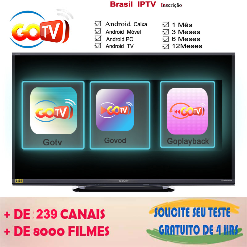 One year Brazil APK IPTV subscription With Live TV&