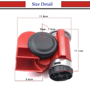 Image 5 - LMoDri Vehicle 12V Super Loudly Air Horn Snail Compact Horns For Motorcycle Car Truck Boat RV Modification Parts