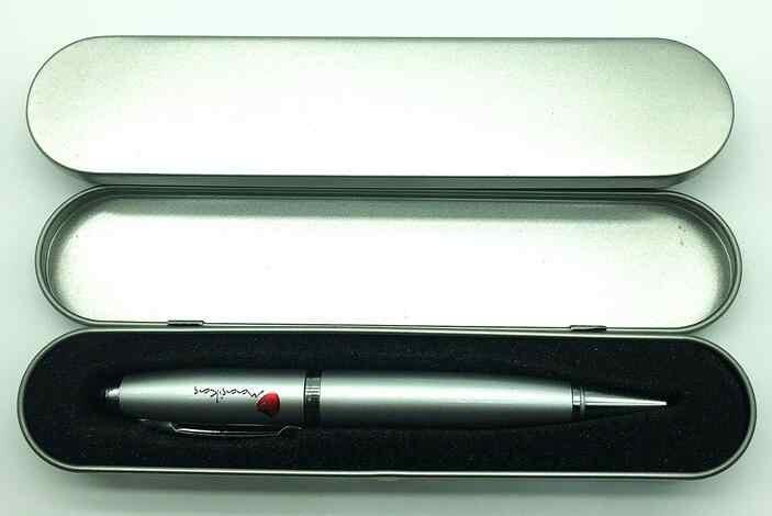 Bút Bi Bút mô hình với ánh sáng laser USB Pendrive nhớ Pendrive 4 GB 8 GB 16 GB 32 người lái xe USB quà tặng doanh nghiệp của 64 GB
