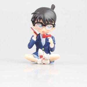 Image 3 - Figuras de acción de Kudou Shinichi, modelo de anime clásico japonés de 7,5 12,5 cm, carcasa de Detective Conan, libro cerrado/teléfono/figura de acción de pie ver