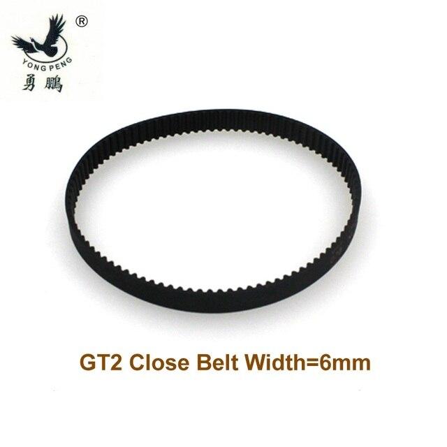 10 piezas GT2 Correa perímetro de 200 m de longitud ancho 6mm dientes 100 de bucle cerrado 2GT correa síncrona de 200-GT2 3D impresora