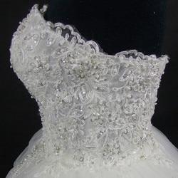 QQ Lover 2019 Elegant Luxury Lace Wedding Dress Vintage Plus Size Ball Gowns Vestido De Noiva 6