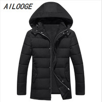 AILOOGE 2017 New Arrival Winter Cotton Padded Jacket Male Thickening Men S Fashion Casual Super Large