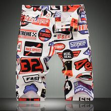Hot Sale Printed Jeans Men Fashion Brand Denim Shorts For Men High Quality Summer Style Casual Mens Pants Skinny Shorts