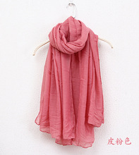 2018 Multicolor High Quality Cotton Candy Color Soft Shawl Female Literary Pure Color Linen Muslim hijabs Scarves 20Colors