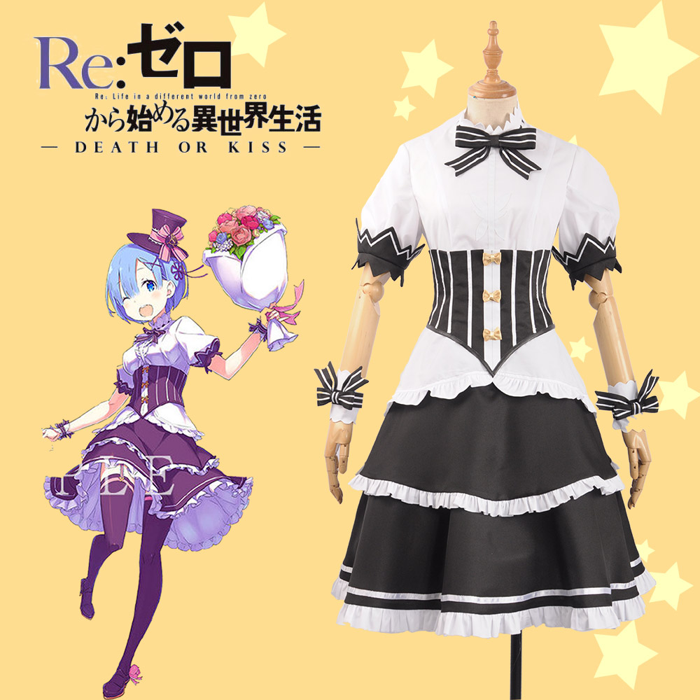 Re Zero Re Life in a Different World from Zero Rem Maid Outfit Cosplay Costume Women