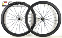 hot sell! 50mm Carbon wheels Tubular with powerway R36 straight pull hub 700C 25mm wide full carbon road bike wheelset