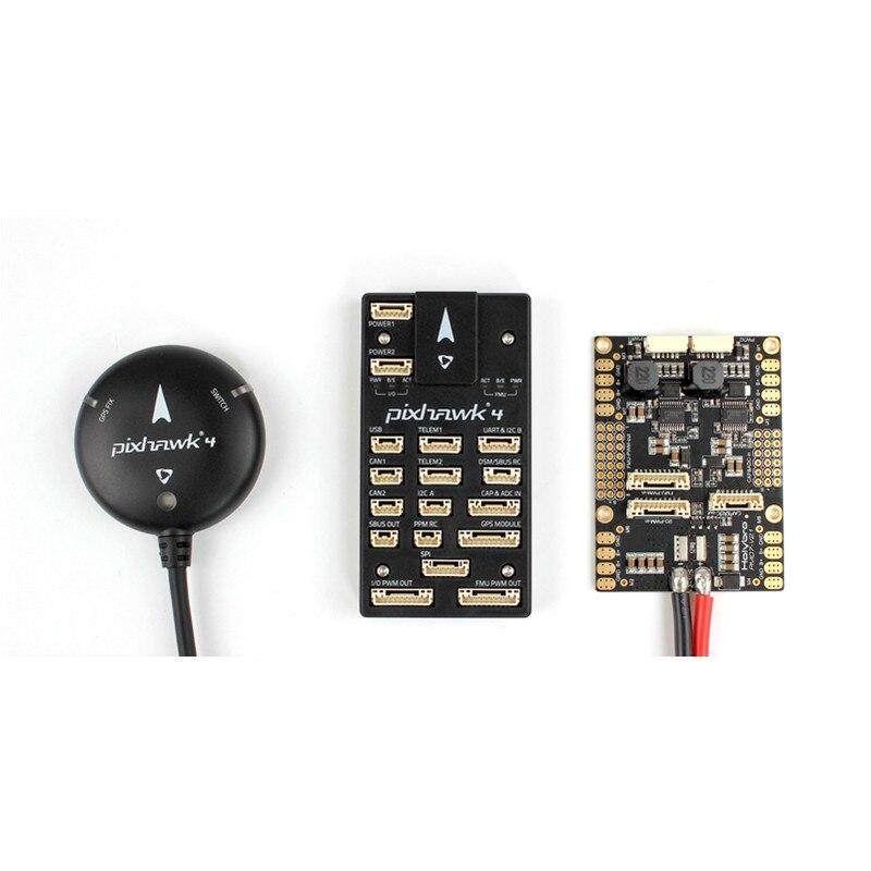 Holybro Pixhawk 4 Vol Contrôle NEO-M8N GPS MODULE PM07 Puissance Conseil D'administration pilote automatique kit