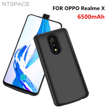 NTSPACE Battery Charger Cases For OPPO Realme X Case 6500mAh Ultra Slim Portable Power Bank Charging Cover