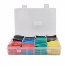 Heat-Shrink-Tubing Electrical-Wire Cable-Wrap 530PCS with Box 20%Off 2:1 Assortment