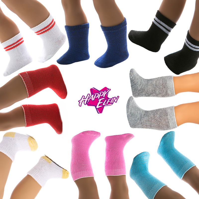 15color Socks Doll Clothes Wear Fit 43cm Baby Born zapf Doll Clothes,Children best Birthday Gift doll accessories new fashion pink boots shoes wear fit 43cm baby born zapf children best birthday gift n445