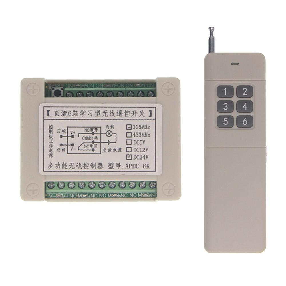 цена на 3000m Smart Home DC 12V 24V 6CH 6 CH RF Wireless Remote Control Relay Switch Security System Garage Door Light Pump