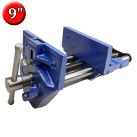 9 Inch Quick Release Wood Working Vise Heavy Duty Cast Iron Rapid Acting Workbench Vice 9 x 10 Jaw Width